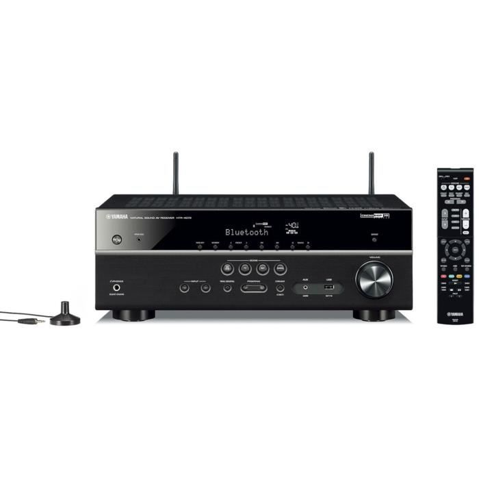 YAMAHA MusicCast HTR-4072 BL Ampli-tuner Home-Cinéma 5.1 - 5 x 80 W - Wi-Fi - Airplay2 - Bluetooth - 4 X HDMI - YPAO