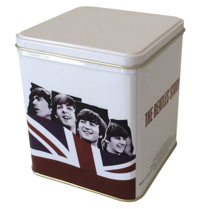 petite boite metallique blanche the beatles achat. Black Bedroom Furniture Sets. Home Design Ideas