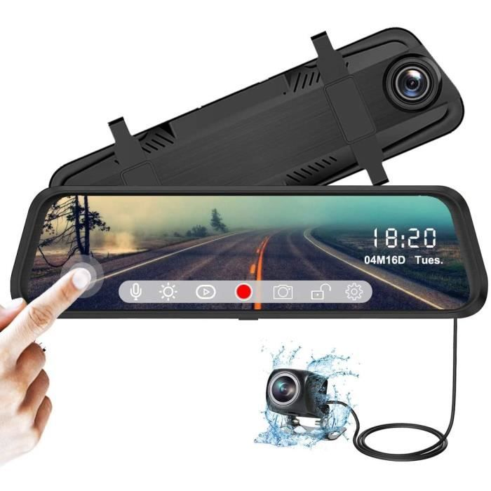 Photo de camera-de-voiture-ydi-dashcam-retroviseur-ecran