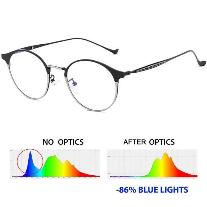 Lunettes anti-bleu lunettes lumi/ère polygone octogonal miroir plat les hommes et les femmes irr/éguli/ères grand cadre r/étro lunettes rondes cadre hommes mode miroir plat lumi/ère anti-bleu et les femmes