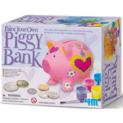 4m piggy bank tirelire cochon peindre achat vente kit scrapbooking 4m piggy bank. Black Bedroom Furniture Sets. Home Design Ideas