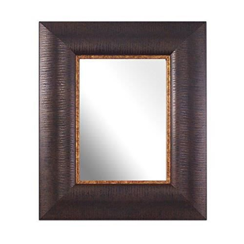 Inov8 miroir traditionnel textur a4 marron achat for Miroir texture