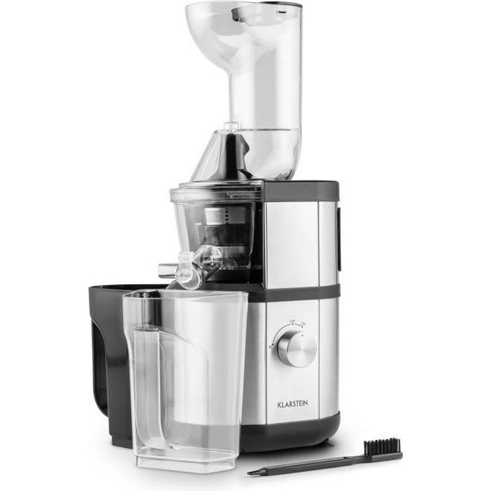 Klarstein Fruitberry - Extracteur de jus, Slow Juicer de 400W pour prEparation de jus de fruist ...