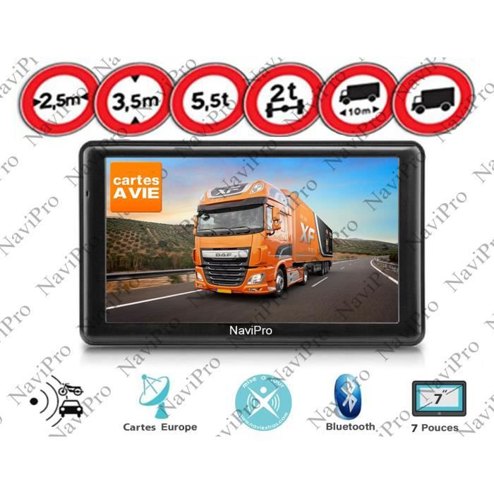 gps poids lourd camion camping car 7 pouces info trafic a vie achat vente pack gps auto gps. Black Bedroom Furniture Sets. Home Design Ideas