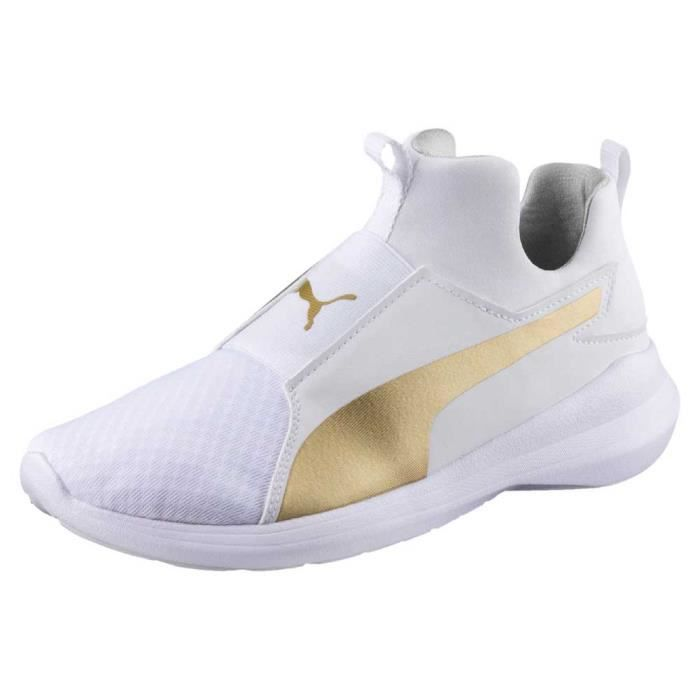 Mid Blanc Vente Rebel Achat Femme Baskets Chaussures Puma 0awIxnBXSq