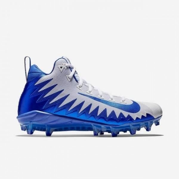 meet bc82e 84600 Crampons de Football Americain Nike Alpha Menace Pro Mid Bleu