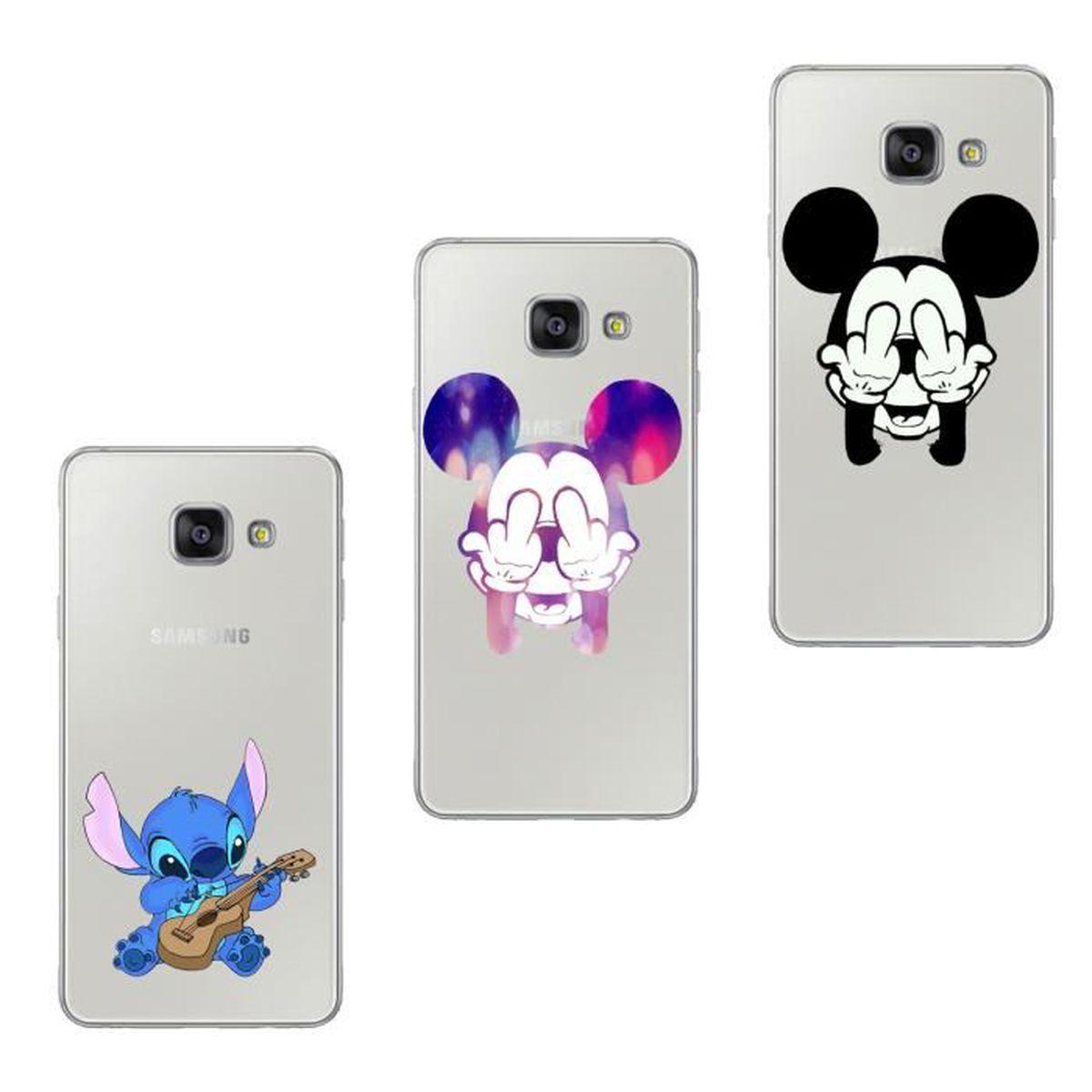 Coque Pour Samsung Galaxy A5 2016 A510 3PC Disney Schéma Souple ...