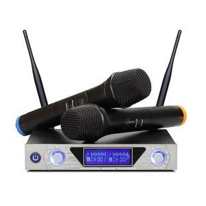 MICROPHONE - ACCESSOIRE ARCHEER Microphone système Récepteur + 2 Micros UH