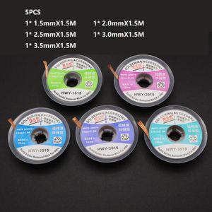 5PCS//LOT 1.5M Fil à Dessouder 1.5mm 3.5mm Tresses BGA Outil de Reparation