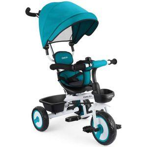 TRICYCLE Fascol 4 en 1 Tricycle Bébé Evolutif avec Porte-go