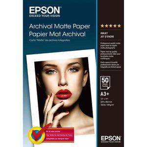 CARTOUCHE IMPRIMANTE EPSON Pack de 1 Archival papier mat - A3+ - 50 feu