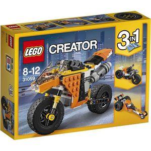 ASSEMBLAGE CONSTRUCTION LEGO® Creator 31059 la Moto orange 3 en 1