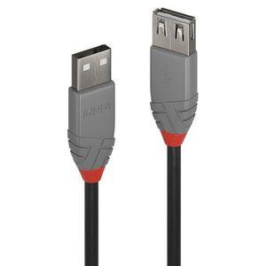 CÂBLE INFORMATIQUE LINDY Rallonge USB 2.0 type A - Anthra Line - 5m