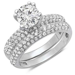 ALLIANCE - SOLITAIRE Bague Femme - Alliance 2.00 ct  18 ct 750-1000 Or