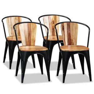 CHAISE Chaise de salle à manger 4 pcs Bois d'acacia massi