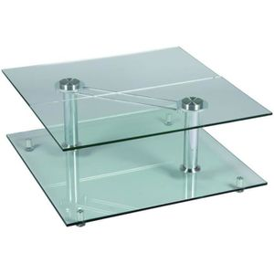 Table basse verre inox achat vente table basse verre - Table verre carree ...
