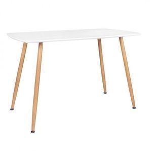TABLE À MANGER SEULE ROMA Table 2 à 4 personnes rectangulaire blanche a
