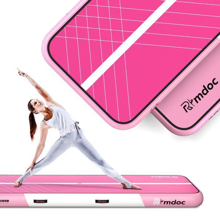 5M Airtrack Tapis de gymnastique gonflable PISTE D'ACROBATIE Tapis de yoga épaississant Tapis de sol avec pompe à air électrique