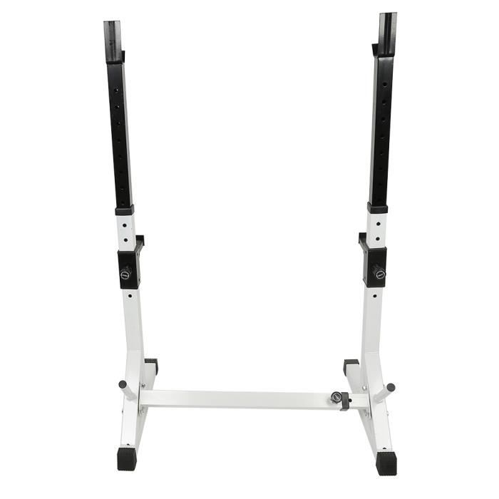 ZUORIOR Squat Rack Support d'haltères Charge maximale 200 kg Noir - HAUTE GUALITE