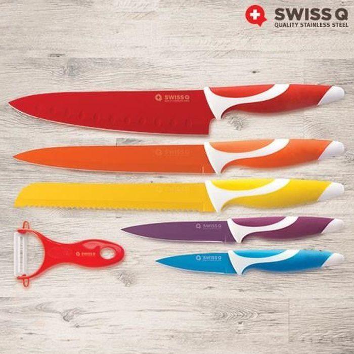 couteaux céramique lot de 5 + eplucheur