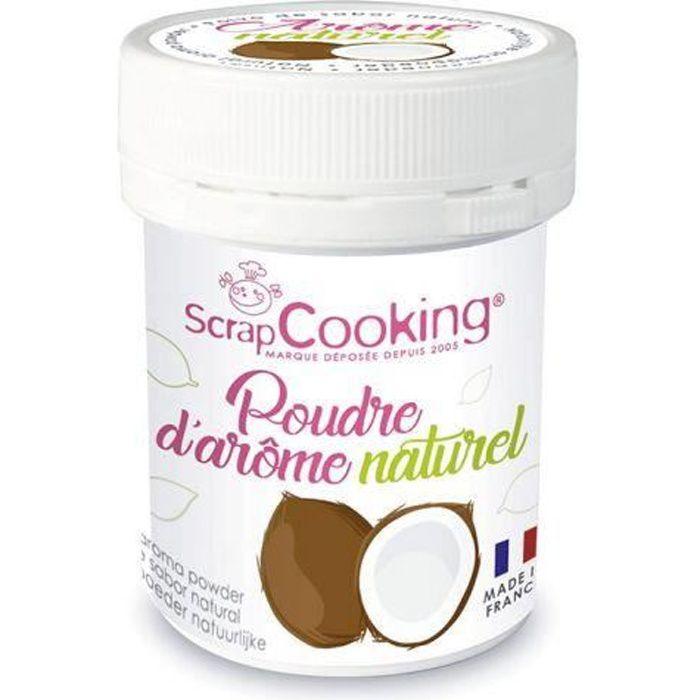 Arôme naturel de coco Vous allez désormais pouvoir parfumer vos gâteaux et toutes vos pâtisseries grâce à la nouvelle gamme de