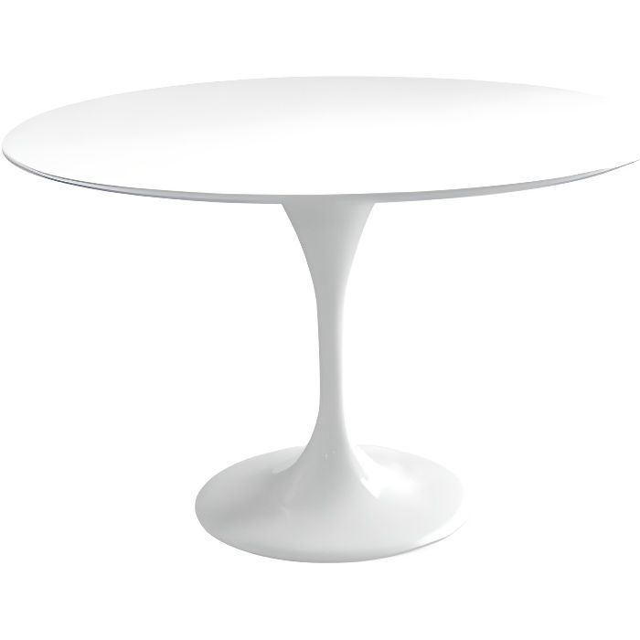 TABLE REPAS TULIP FIBRE DE VERRE BLANC 120