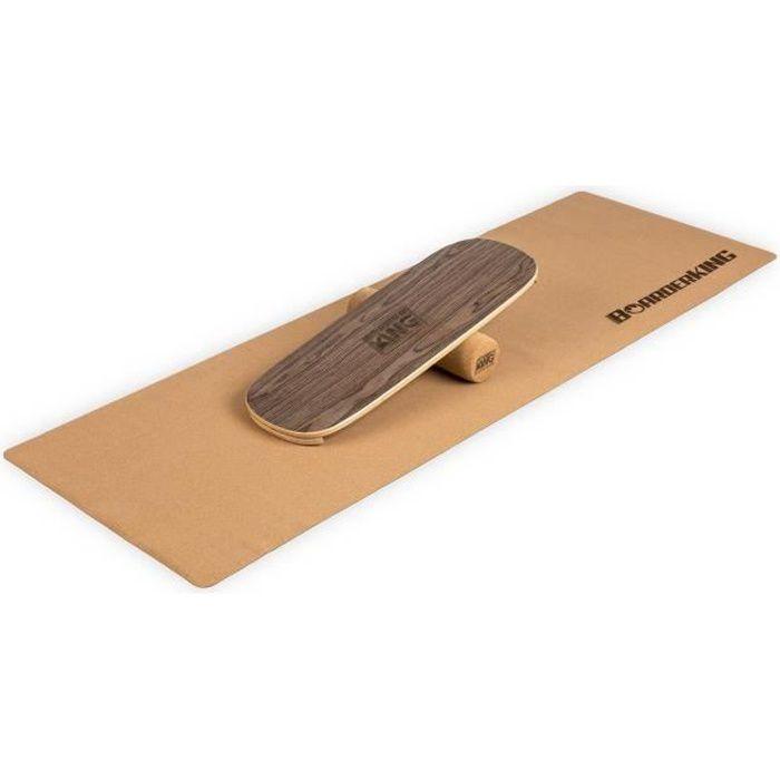 Appareil abdo - BoarderKING Indoorboard Flow - Skateboard Surfboard Trickboard - Planche d'équilibre - Noyer