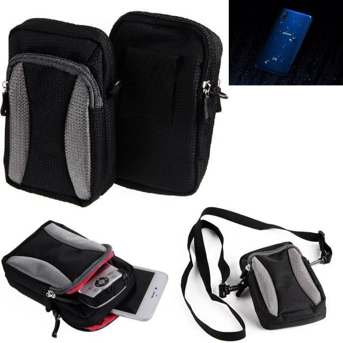 Pour ZTE Axon 9 Pro Étui de Protection á Bandoulière Sac d'épaule Holster smartphone coque housse pochette ceinture couvercle