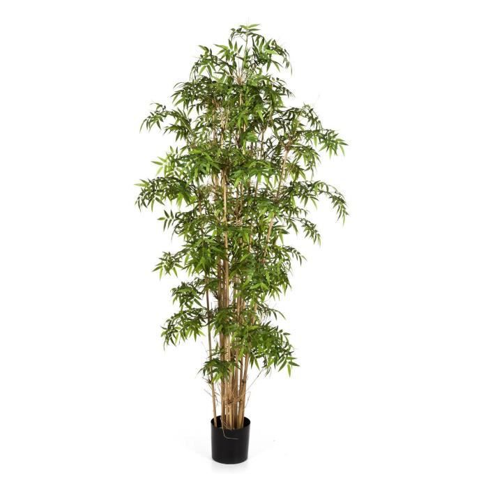 Bambou artificiel - Pseudosasa japonica KAITO, 1310 feuilles, vert, 110 cm - Arbre artificiel - Bambou décoratif
