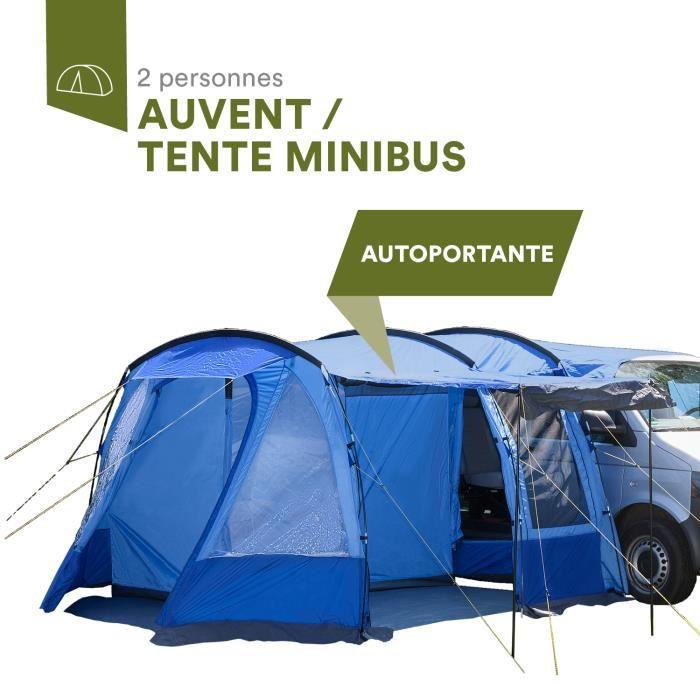 skandika Aarhus Travel - Auvent autoportant pour Van Minibus - tente - bleu - 2 personnes