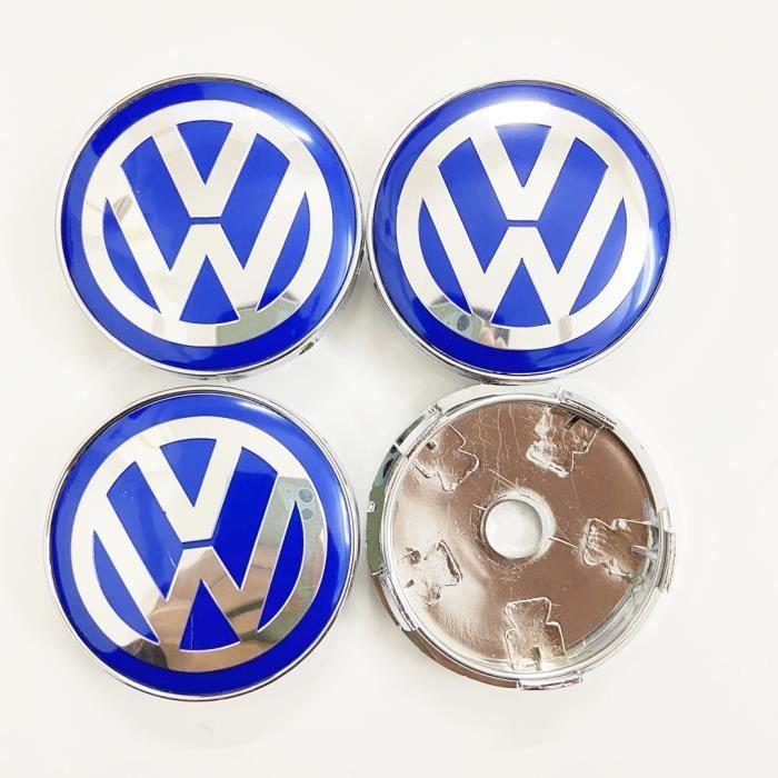 4pcs x 60mm Roues modifiées bleu Logo Jante Cache Moyeu Centre De Roue Piqûres Emblème pour Volkswagen