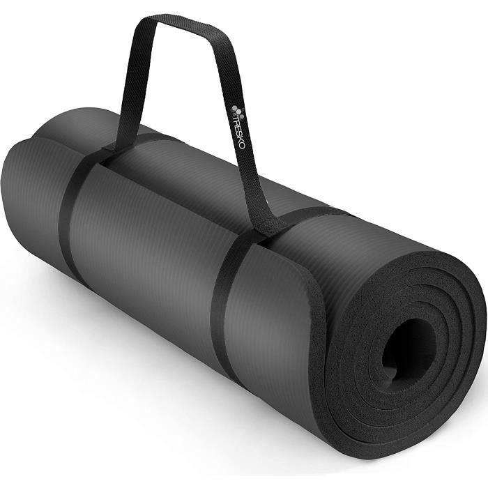 TRESKO Tapis d'exercice Fitness Tapis de Yoga Tapis de Pilates Tapis de Gymnastique, Dimensions 185 x 60 x 1,5 cm ou et 190 x 100 x
