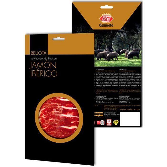 Jambon pata negra iberique nourri au gland Revisan tranche (100gr)