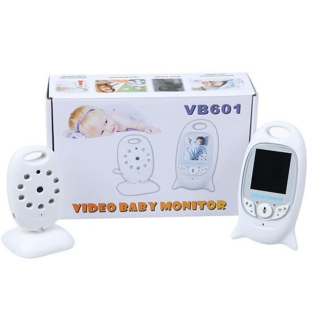 2.0 Inch Color Video Wireless Baby Monitor Security Camera Nigh Vision IR LED Temperature Monitoring 8 Lullabies 2 Way Talk