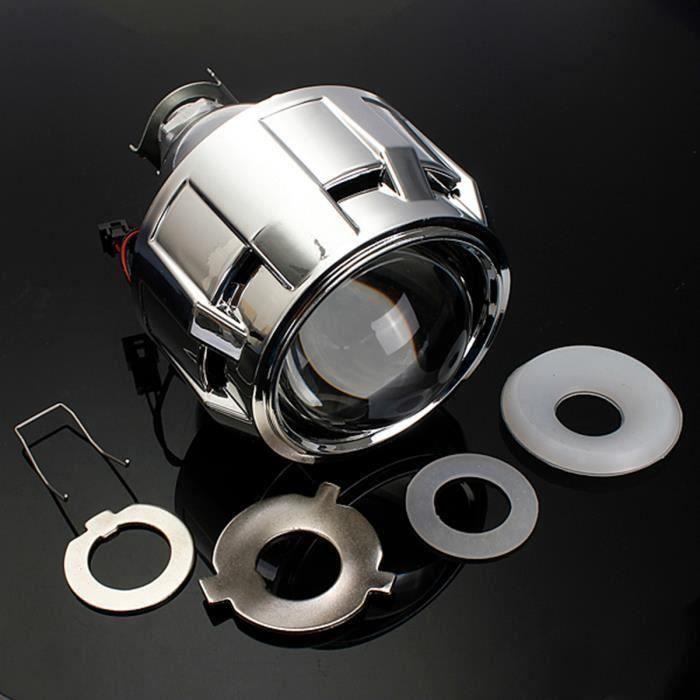 2.5&quot Xénon Bi-xénon HID KIT Projecteur Phare Lentille Angels Eyes Auto H1 H4 H7