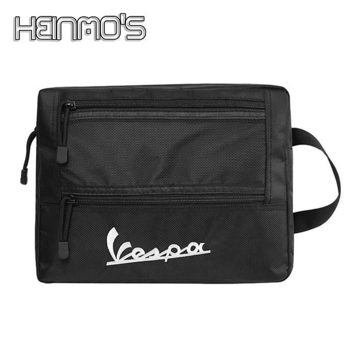 Black -Boîte de siège arrière de moto, sac de coffre pour Vespa GTS SPRINT LX LXV 50 125 150 250 300 300ie, boîte de rangement intér