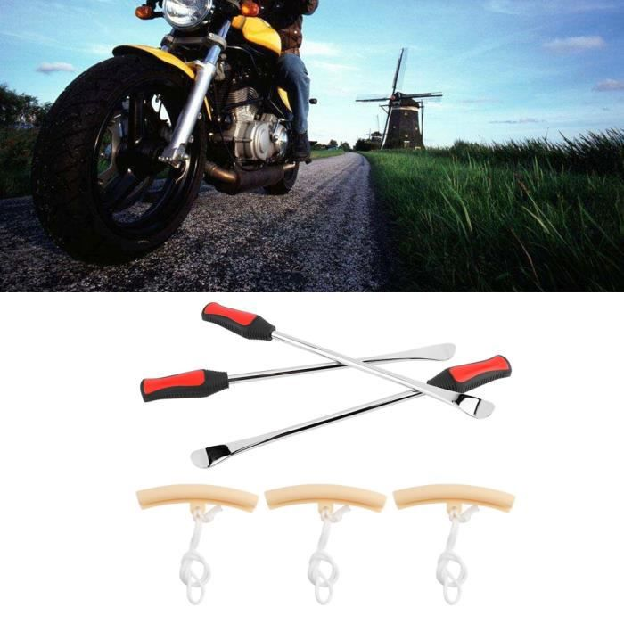 14,5 pouces cuillère à outils pour démonte-pneus en acier trempé Protecteurs de jante kit d'outils HB010
