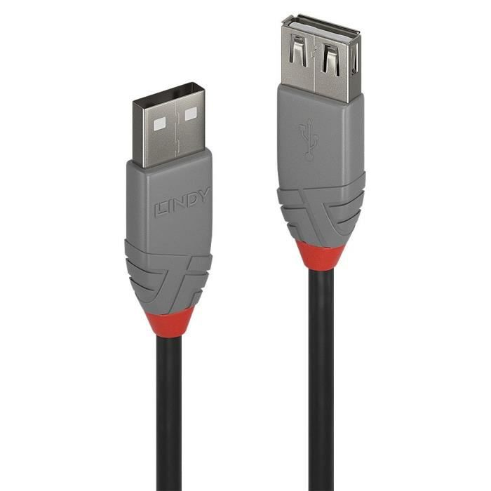 Lindy Rallonge Usb 2.0 type A Anthra Line 5m