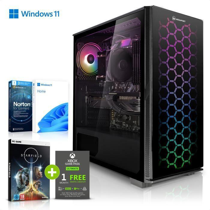 Megaport PC Gamer Nomad - AMD Ryzen 5 2600 6x3.40 GHz  • GeForce GTX1650 • 16Go RAM • 1To • Windows 10 • Unité centrale ordinateur d