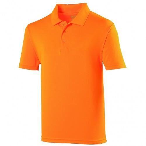 Polo sport uni Just Cool pour homme Orange élec...