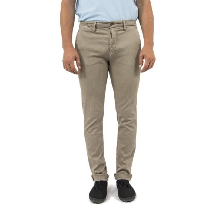 pantalons replay m9627l zeumar slim hyperflex stretch denim beige