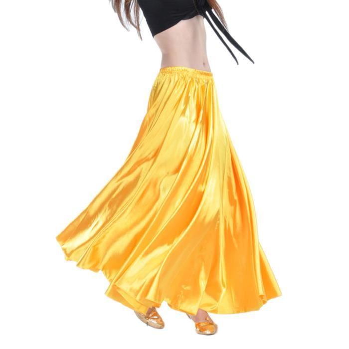 Femme Jupe De Danse Jupes Sans Ceinture Jaune
