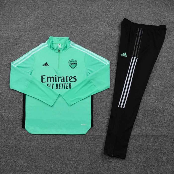 Arsenal 2021 2022 Survêtements Foot Homme Enfants Maillot de Football - Vert