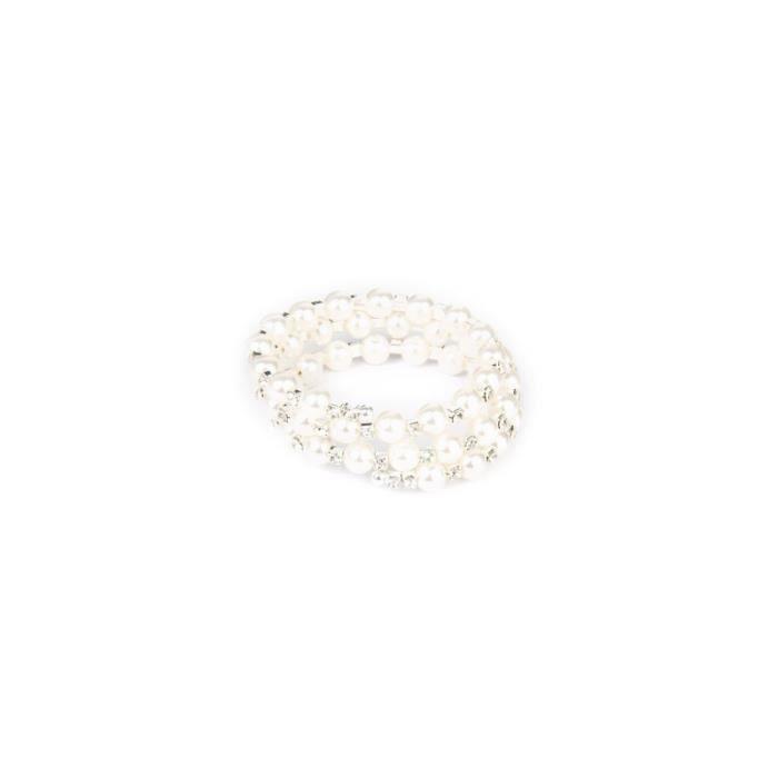 1 pc Bracelet De Mode Perle 3 Couche Élastique Wrap Main Bijoux pour Femmes BRACELET - GOURMETTE - JONC