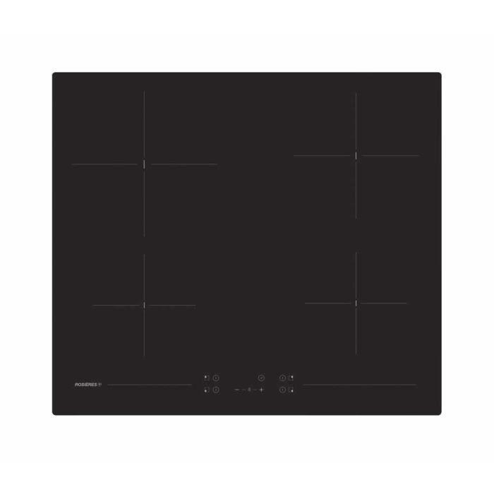 Rosieres RH64CT-1, Intégré, Plaque avec zone à induction, Céramique, Noir, 1200 W, Rond