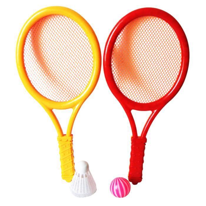 1 paire de raquette de tennis en plastique de petite taille ensemble de de badminton KIT TENNIS - PACK TENNIS - ENSEMBLE TENNIS