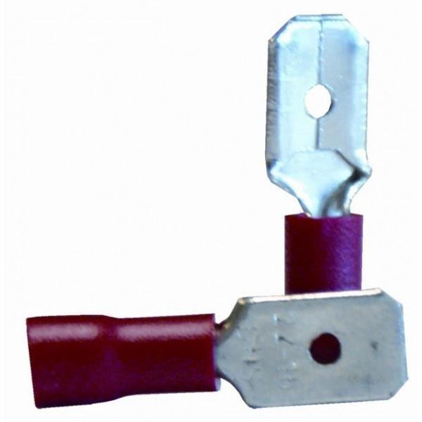 VOLTMAN Pack de 10 Clips mâles 6,35 mm rouge