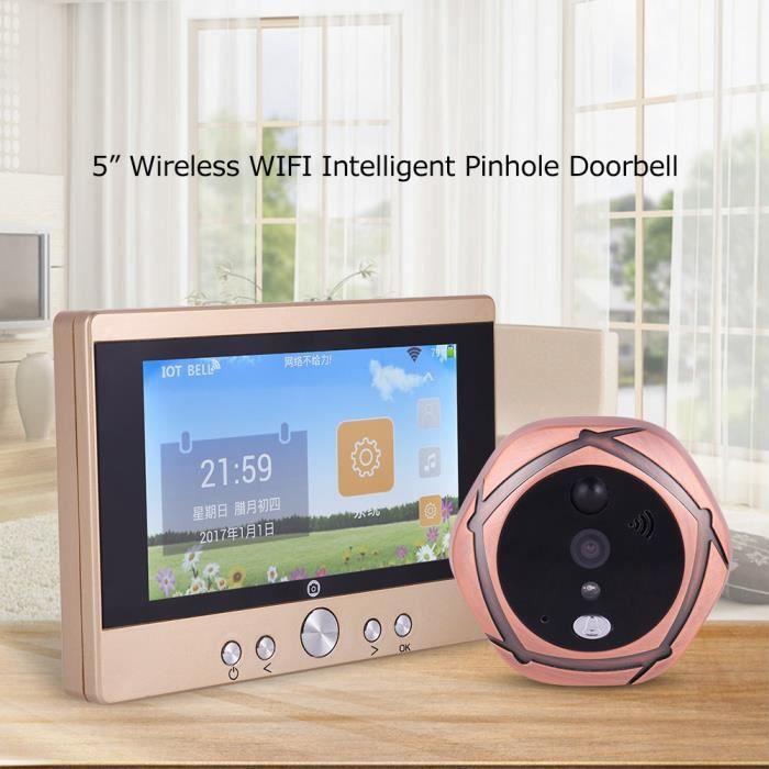 JUDAS - ŒIL DE PORTE 5 '' LCD WiFi Interphone Visionneuse de porte juda