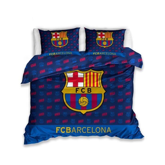 Real Madrid FC Crest Taille Double 100/% Coton Housse de Couette Parure de lit de 200/cm x 200/cm