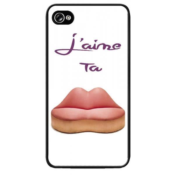 Coque Apple Iphone 4/4S J'aime ta bouche - Cdiscount Téléphonie